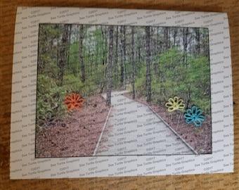 Tatted Notecards - Boardwalk trail 3