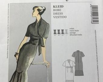 UNCUT Burda Pattern 7174 - Retro Style Dress Pattern - Women's Size 10-18 - Vintage Dress Pattern