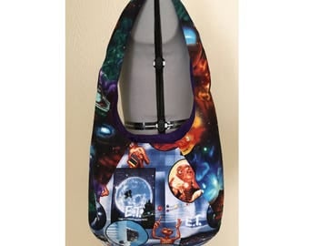 ET Inspired Large Hobo Bag, Space, Outer Space