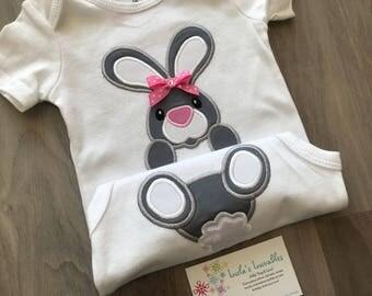Easter bunny shirt, bunny bum