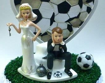 funny wedding cake toppers soccer wedding cake topper pabst blue ribbon pbr mug cans 14606