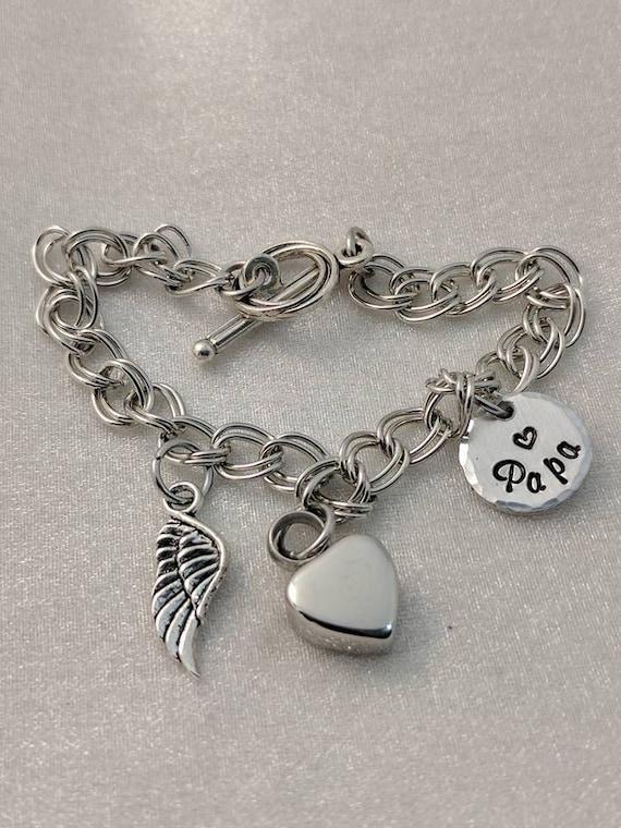 Urn Bracelet - Charm Bracelet - Urn for Ashes - Personalized Urn Bracelet - Urns for Ashes - Cremation Urn Jewelry - Urn Jewelry - Memorial