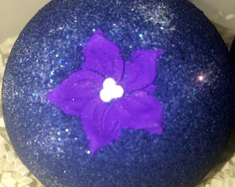 Blueberry Hill scented Large 3 inch, deep blue bath bomb, blueberry scent, big bubbly bath fizzy, gift for her, kids, gift idea,