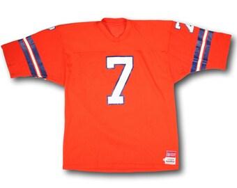 Men's L | Vintage 80's SAND KNIT Denver Broncos John Elway #7 Mesh Football Jersey