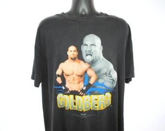 1998 Goldberg Vintage World Championship Wrestling Classic 90's Pop Culture Undefeated W.C.W. Wrestler Promo T-Shirt