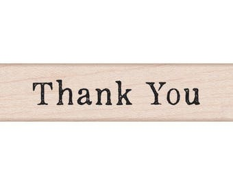 """Hero Arts Mounted Rubber Stamp 3""""X.75"""" - Thank You Stamp"""