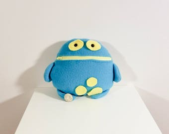 Blue and Yellow Tooth Fairy Pillow- Pocket Monster- Colorful Monster Plush