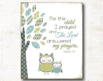 For this child I prayed, Art Print