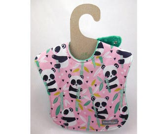 Baby girl bib, baby bib, leak proof bib, 1st birthday bib, panda bib, shower gift, rainy day, ready to ship, baby bear, first birthday