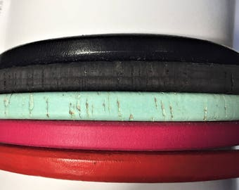 "SALE: 5 Strand licorice leather bundle, 7"" each, Colors as shown, #9 bundle"