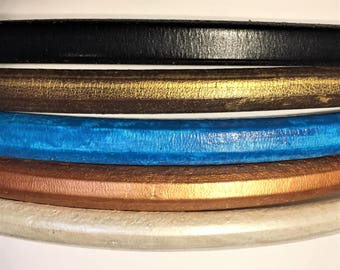 "Shorts: 5 Strands licorice leather bundle, 6"" each, Colors as shown, #5 bundle"