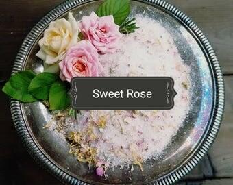 Herbal Bath Soak - Sweet Rose -Bath Salts - Spa & Relaxation - Natural Bath