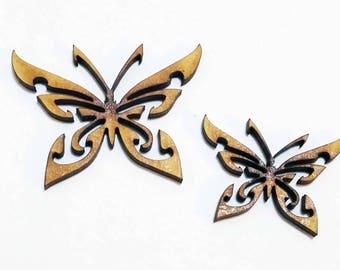 10 x mixed sized butterflies craft blanks scrapbook