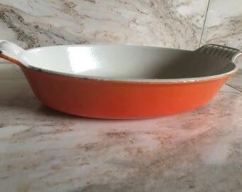 Vintage Flame Orange Le Creuset Au Gratin Dish (#20)