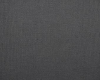 Muslin 'uni dark grey' - dark grey - 0, 5m