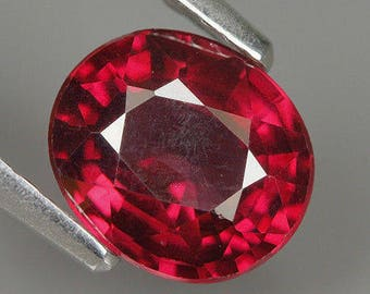 1.47 Ct Natural Africa Purplish Red RHODOLITE GARNET