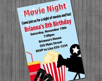 FLASH SALE Movie Night Invitation