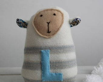 Stripy knitted lamb