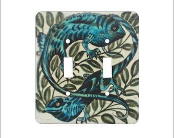 Metal Chameleon Double Light Switch Cover - Chameleon Switch Plate - 2T Double Switch Plate - William Morgan Chameleon