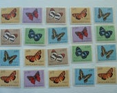 Butterflies - Lot of Butterfly Postage Stamps for Collecting, Decoupage, Paper Crafts, Collage and More... Butterflies