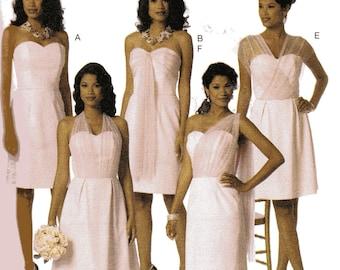 Butterick Pattern 6131 STRAPLESS DRESS w/SASH Drape Misses Sizes 14 16 18 20 22