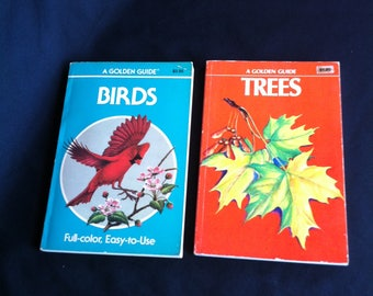 Two Golden Guide Books - One On Birds And The Other One On Trees