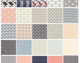 """Serenity Cotton Fabric 2 1/2"""" Quilt Strips byModa.   42 pieces in Bundle"""