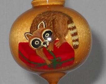 Christmas Ornament, Raccoon Ornament, WBO-56