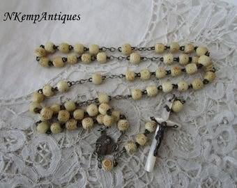 Antique bone rosary 1900