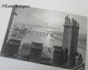 Antique irish engraving Limerick