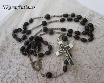 Antique black rosary 1900