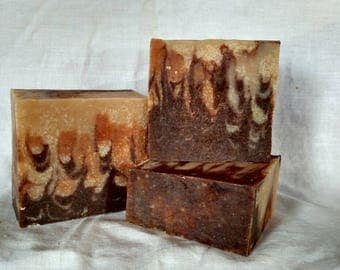 Cinnamon goat milk bar soap.