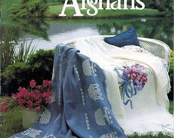 American School of Needlework - Cross Stitch Afghans- Secondhand
