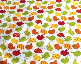 Coupon fabric girl 50 x 70 cm birds