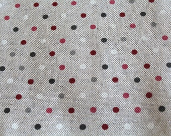 Coated fabric 50 x 70 cm with polka dots