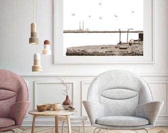 Sandycove Swimmer Print