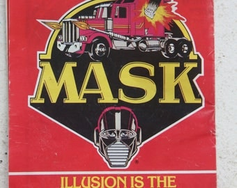 Vintage 1986 Insert Catalog Series 1 - Kenner M.A.S.K.  - illusion is the ultimate weapon vehicle and action figures poster. -Free shipping