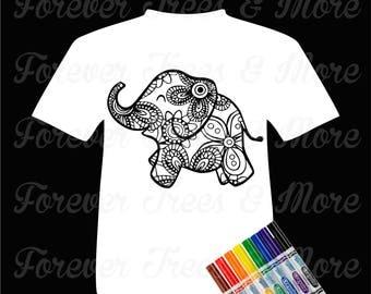 Color Me Tee-Elephant