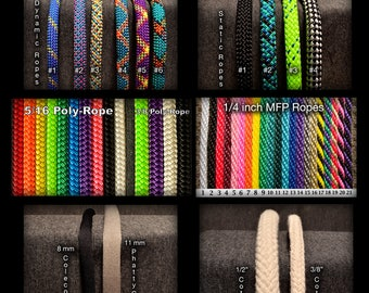 Rope by the Foot (MFP, Polyester, Fancy Ropes, Static Rope & Cotton)
