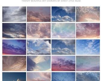 ON SALE Sky overlay - skies overlay - sky overlay pack - photoshop skies - cloud overlay