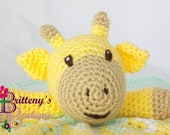 Baby Lovey Crochet Baby Lovey Crochet Plush Yellow Giraffe Baby Yellow Green Security Blanket Snuggle Blanket Baby Shower Gift 17 inches
