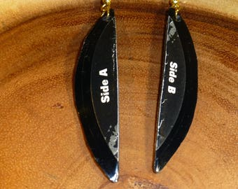 Side A/B Vinyl Record Earrings