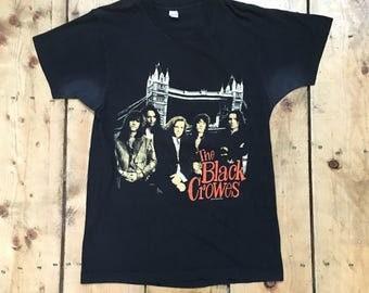 Vintage 1990 The Black Crowes Shake Your Money Maker World Tour Rock Concert Tee T Shirt Tshirt - Fits adult Medium