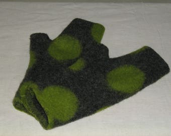 boiled wool mittens