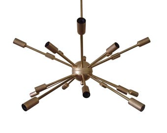 16 Arm Mid Century Atomic Starburst Sputnik Ceiling Light
