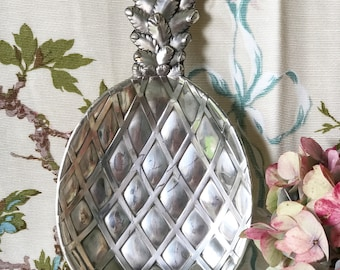 A mid century silver plated pineapple snack tray bar ware jewellery or fruit tray