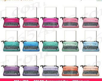 50% OFF Typewriters Clipart, Vintage Typewriters Clip art, Retro Typewriters, Digital, Planner Stickers, Scrapbooking, PNG, Commercial
