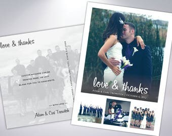 Thank You Postcards | Wedding Thank You Card | Custom Message | Wedding Photos | Wedding Postcards | Thank You