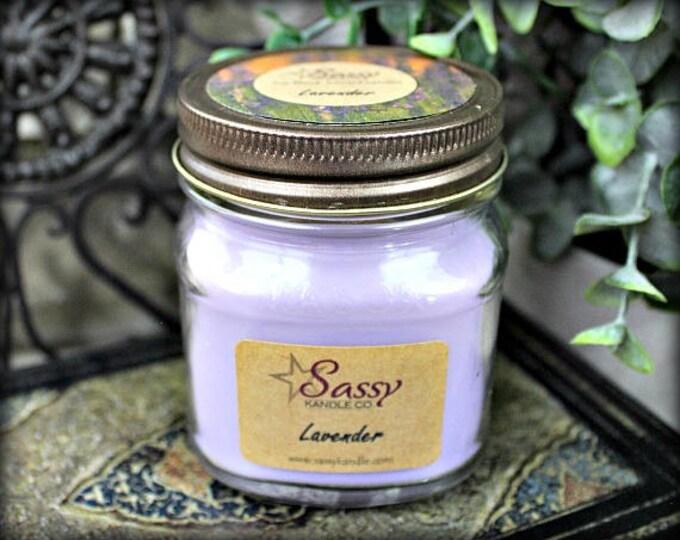 LAVENDER | Mason Jar Candle | Sassy Kandle Co.