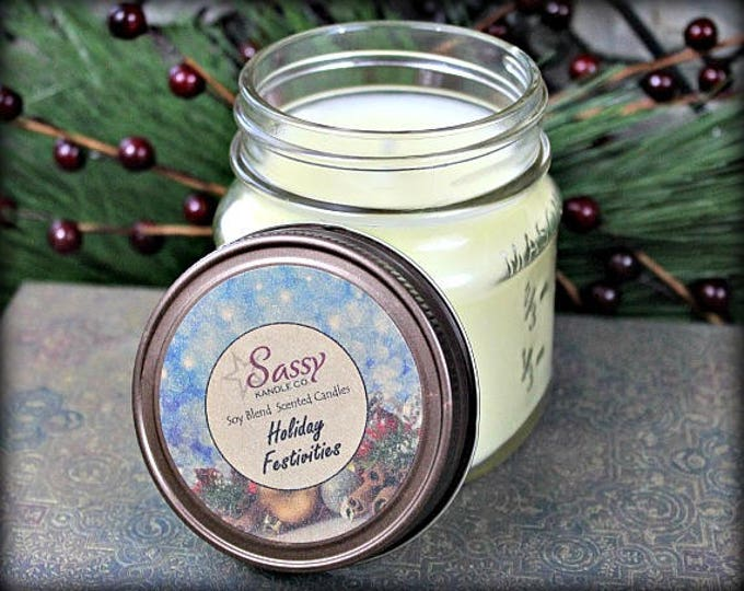 HOLIDAY FESTIVITIES | Mason Jar Candle | Sassy Kandle Co.
